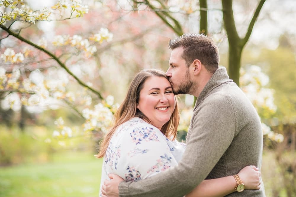 Springtime engagement portraits with Alex and Ben in Sheffield Botanical Gardens