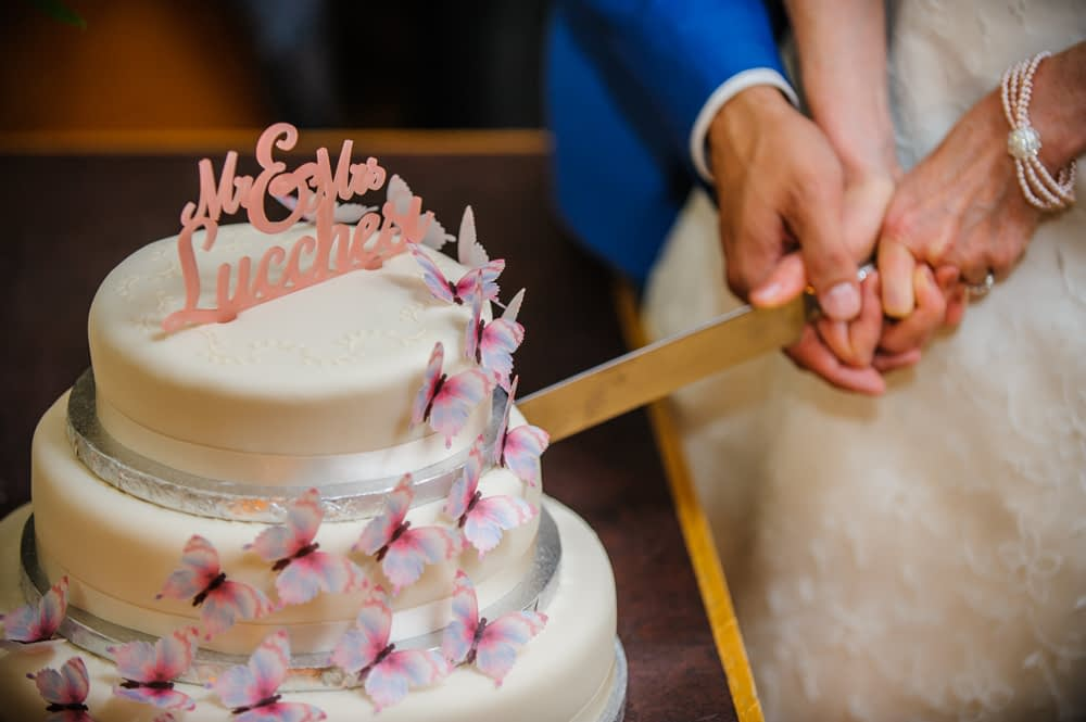 Cake cutting, Sheffield wedding photographers