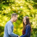 Laughing, pre-wedding portraits Sheffield