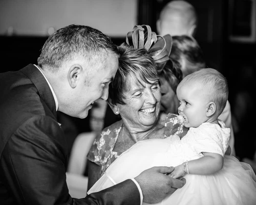 Meeting his daughter, Whitley Hall weddings