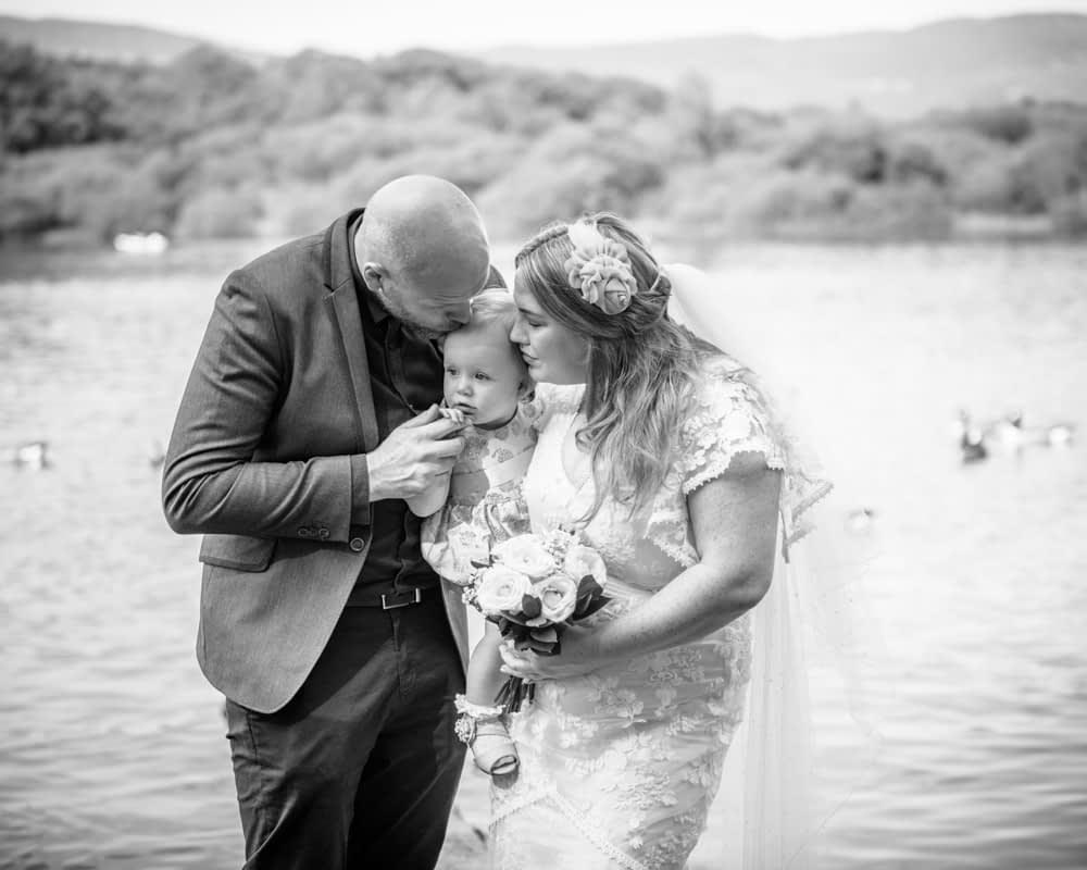 Kisses from Mum, Derwentwater Rock the Dress, Lake District wedding photographer
