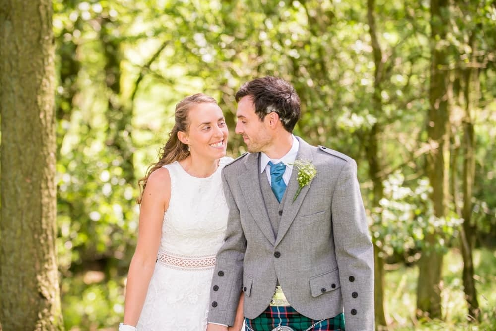 Walking through the woods, Howgills wedding, Sedbergh, Lake District wedding photographers