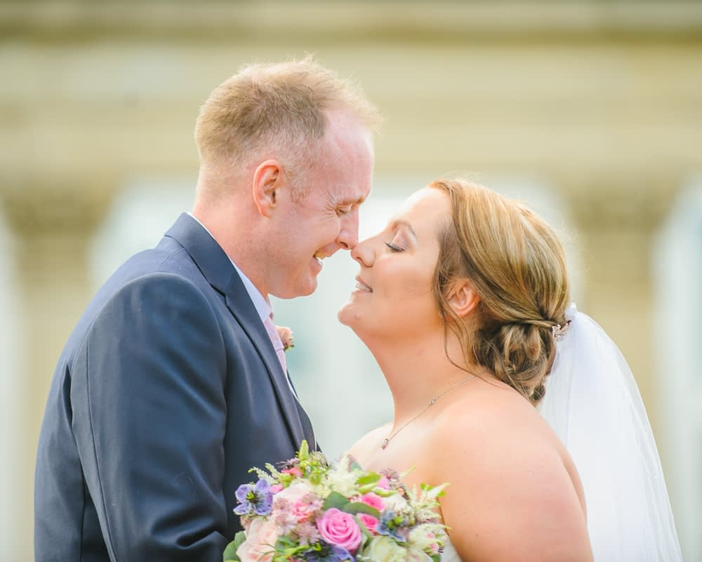 Eskimo kiss,  Botanical Gardens Wedding Sheffield