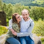 Laughing on pre-wedding photos, Sheffield wedding photographers
