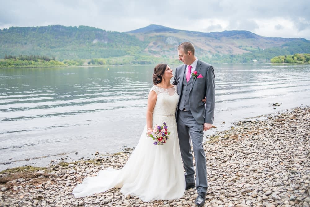 On the banks of derwentwater, Lingholm wedding, Lake District