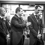 Groom nervously waiting for bride, Sheffield weddings