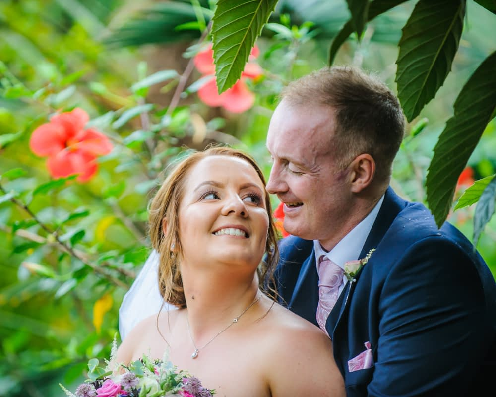 Smiles on wedding day,  Botanical Gardens Wedding Sheffield