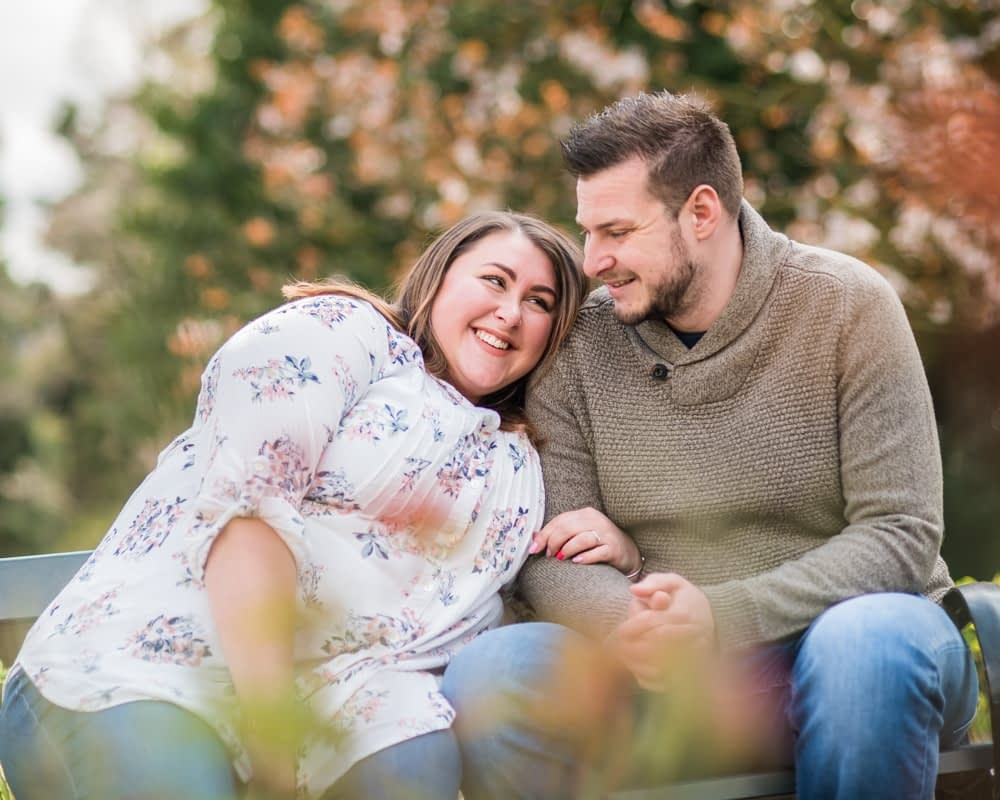 Pre-wedding portraits in Sheffield Botanical Gardens