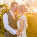 Bride and groom sunset poses, Sheffield wedding photographers, Smallshaw Farm Cottages