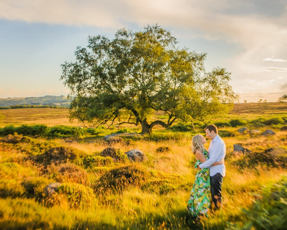 Sunset in Peaks, pre-wedding portraits Surprise View