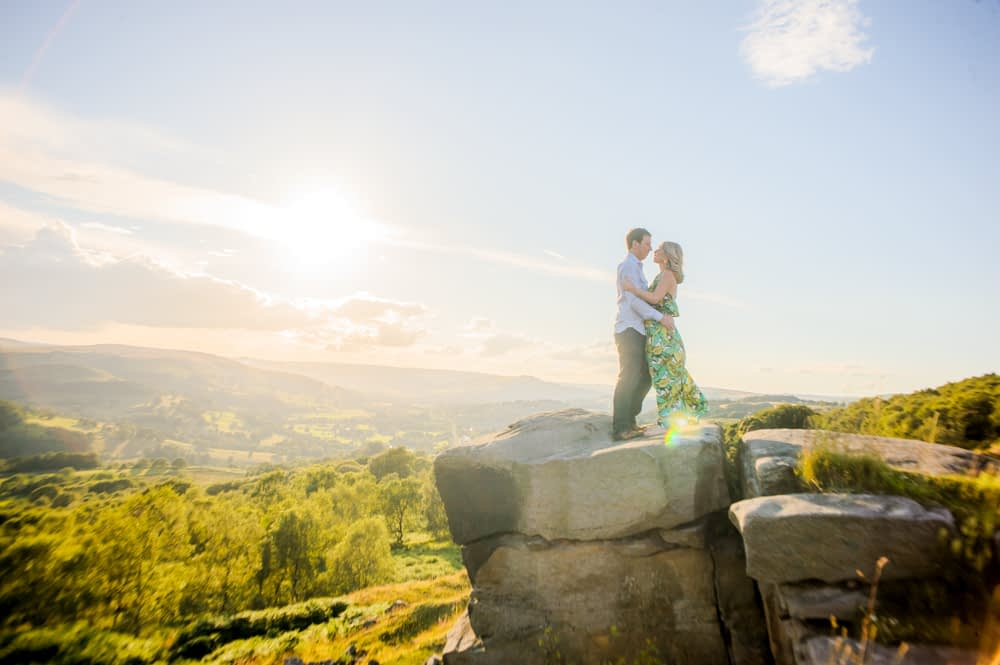 On top of the rocks, Surprise View Peak District