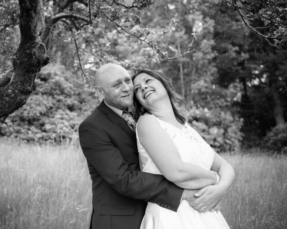 Laughing in the grounds, Merewood Country Hotel Hotel weddings, Lake District