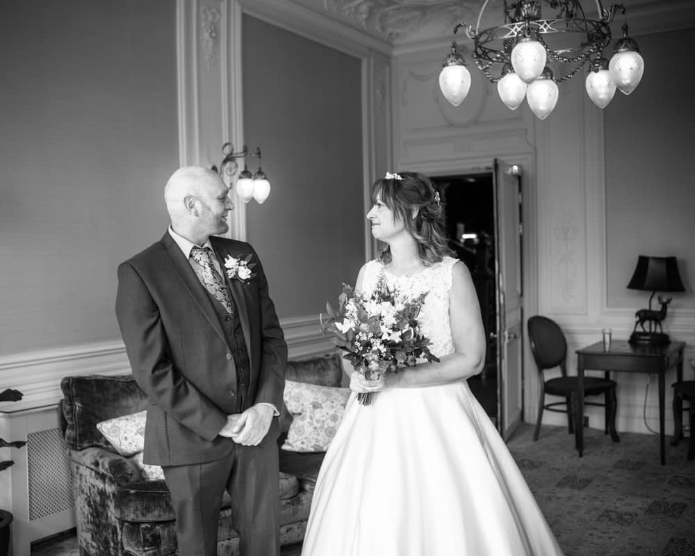 Judith enters the ceremony room, Merewood Country Hotel Hotel weddings, Lake District
