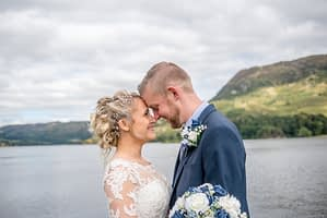 Touching noses, Inn on the Lake, Ullswater, Lake District documentary wedding photographers