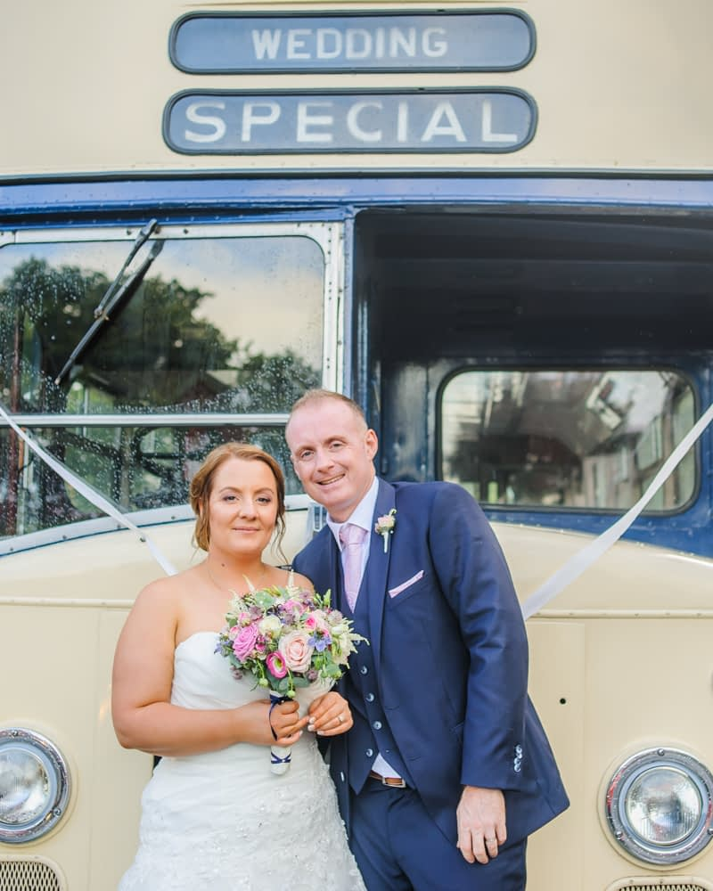 Sheffield transport vintage bus,  Botanical Gardens Wedding Sheffield