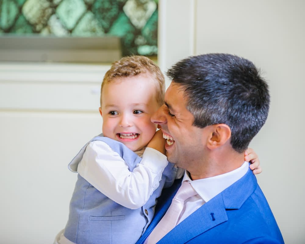 Groom and best man son, Sheffield weddings
