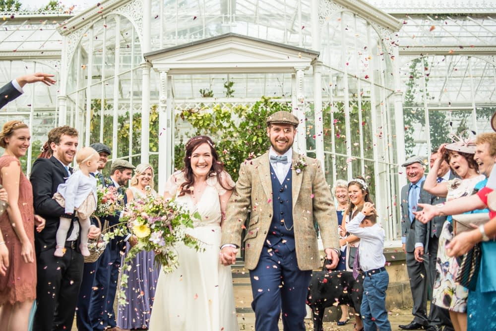 Confetti,  Wentworth Castle Garden wedding, Sheffield photographers