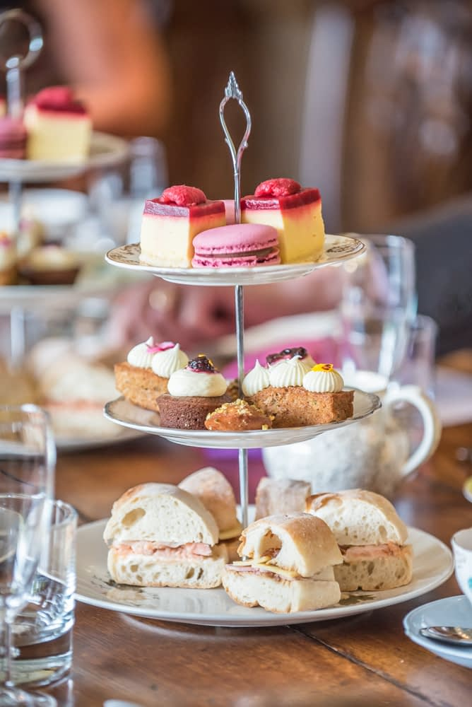Afternoon tea, Lingholm wedding, Lake District