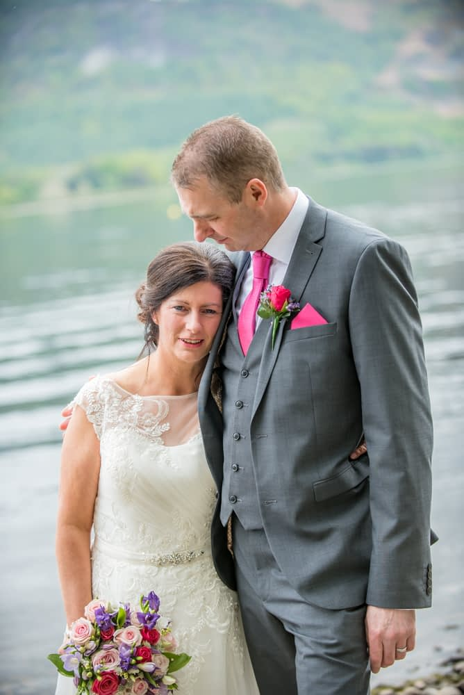 Intimate moments, Lingholm wedding, Lake District