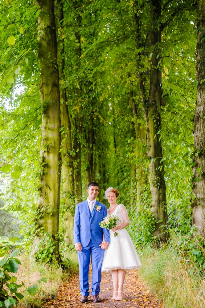 Lady Lucy's Walk bride and groom, Sheffield weddings