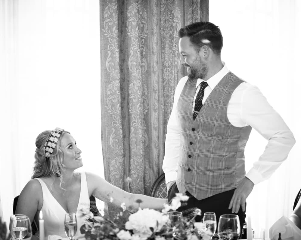 Grooms's speech, Overwater Hall wedding, Lake District