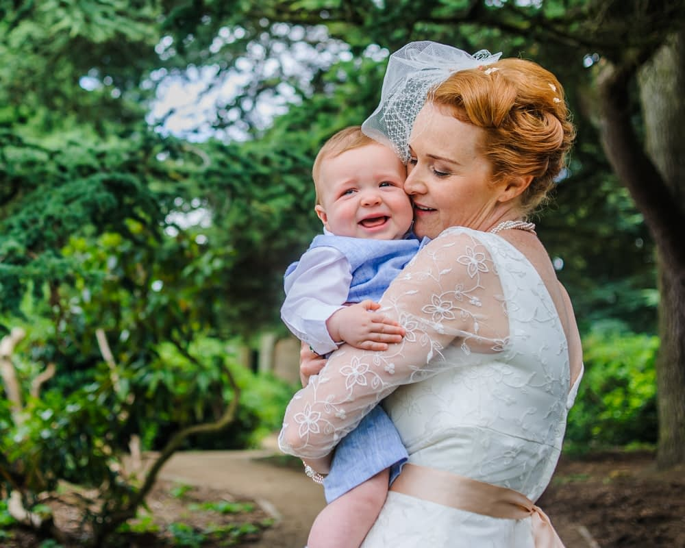 Bride and her son, Barnsley wedding