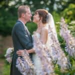 Kisses in the grounds at Wortley Hall in Sheffield