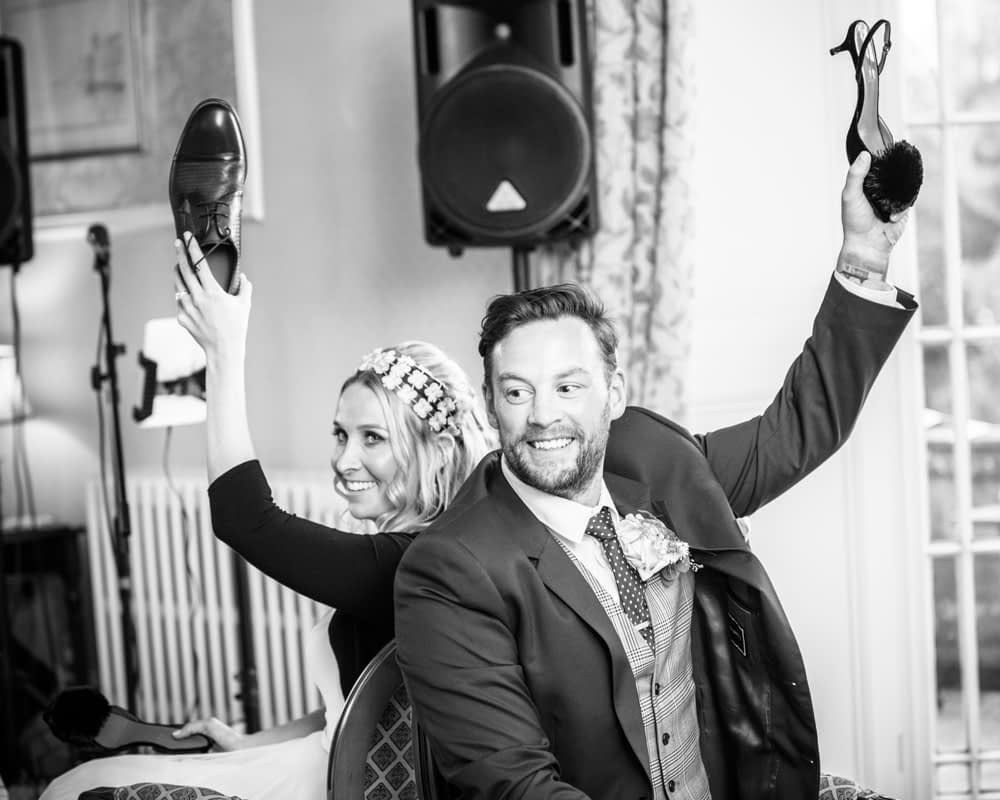 Mr and Mrs game, Overwater Hall wedding, Lake District