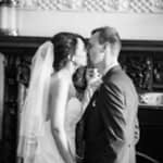 First kiss at Wortley Hall in Sheffield