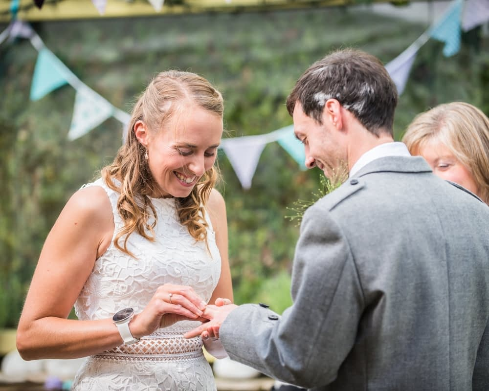 Ring exchange, Howgills wedding, Sedbergh, Lake District wedding photographers