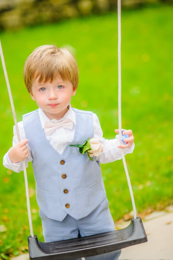 Pageboy on swing, Sheffield weddings