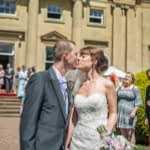 Kisses for Rachel & Seth at Wortley Hall in Sheffield