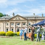 Clay pigeon shooting at Wortley Hall in Sheffield