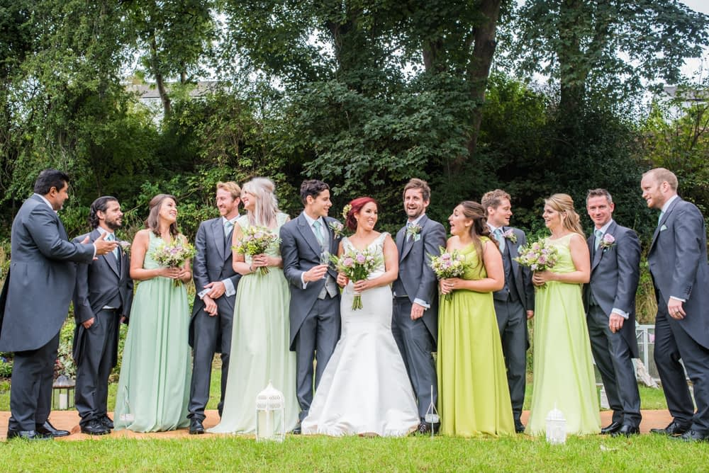 Bridal party, Sheffield wedding photographers