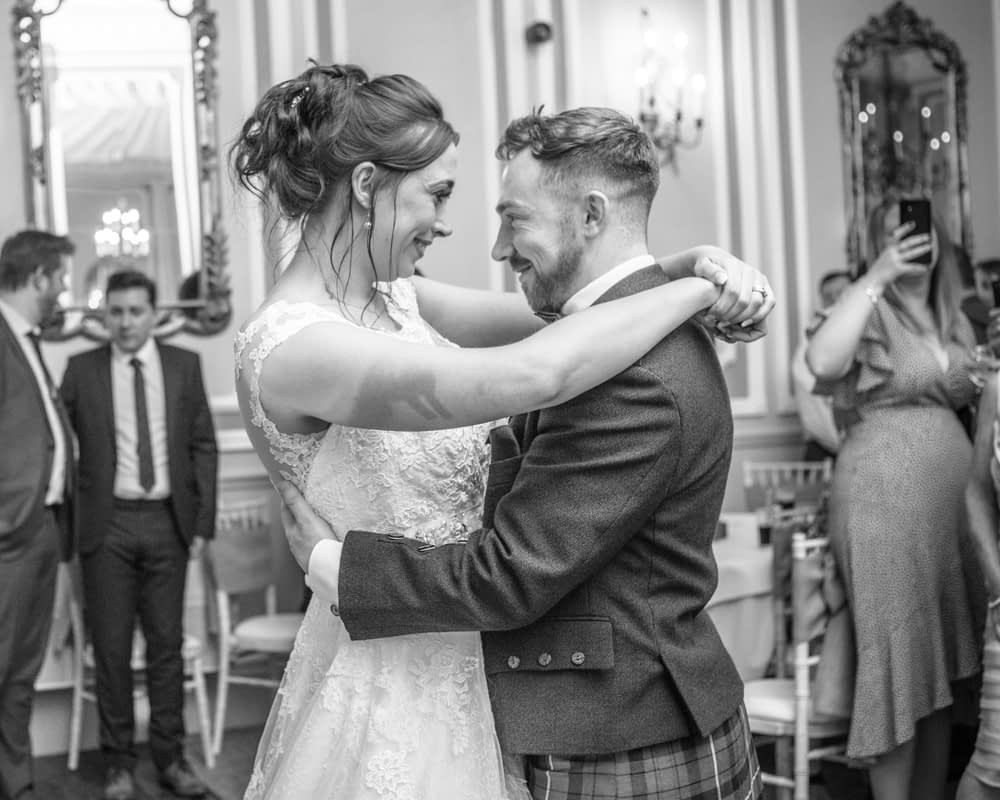 Mr and Mrs on the dancefloor, Sheffield wedding photographers, Ringwood Hall Hotel