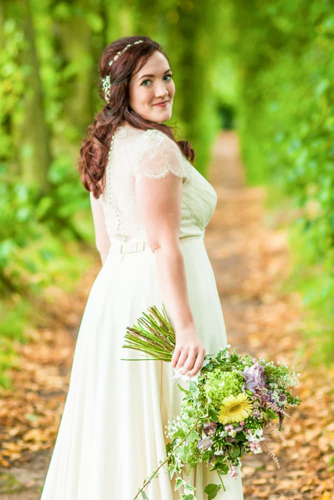 Bride's dress details,  Wentworth Castle Garden wedding, Sheffield photographers