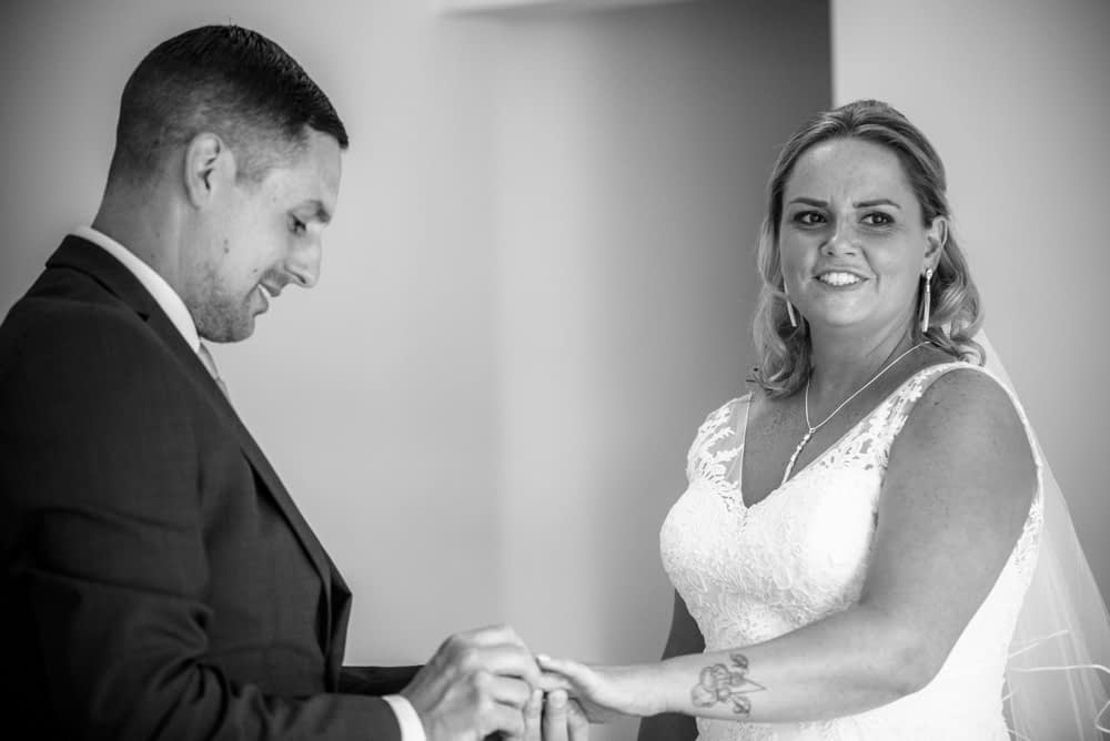 Ring exchange, Lakeside Hotel weddings, Windermere