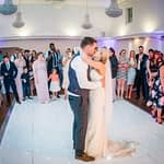 Bride and groom during first dance, Wortley Hall, Sheffield wedding photography