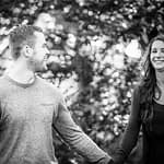 Walking in the grounds of Whirlowbrook Hall, pre-wedding photographs