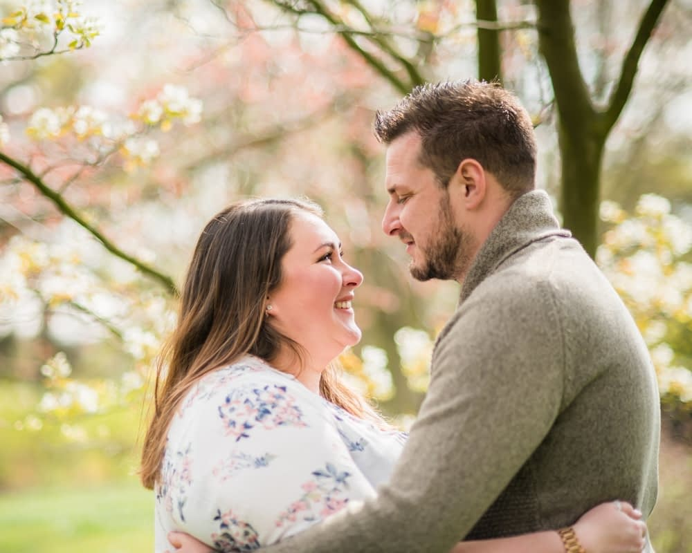 Laughing - Sheffield engagement portraits