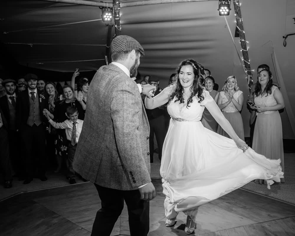 First dance,  Wentworth Castle Garden wedding, Sheffield photographers
