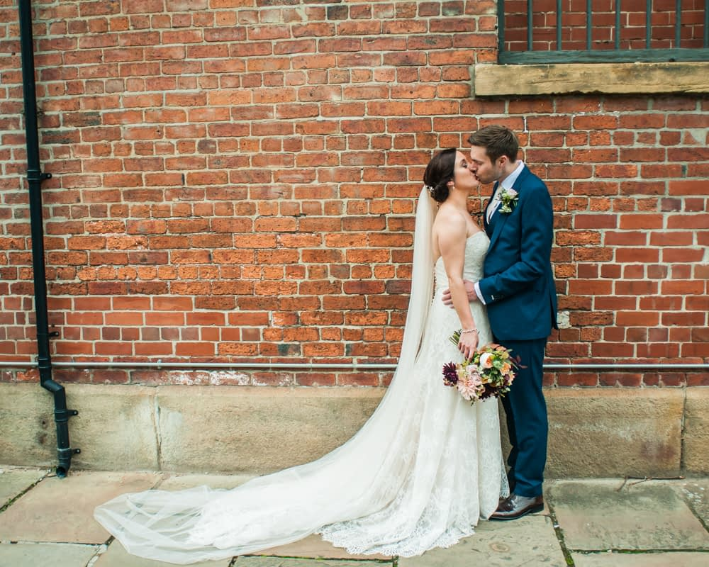 Kisses, Kelham Island wedding, Sheffield photographers