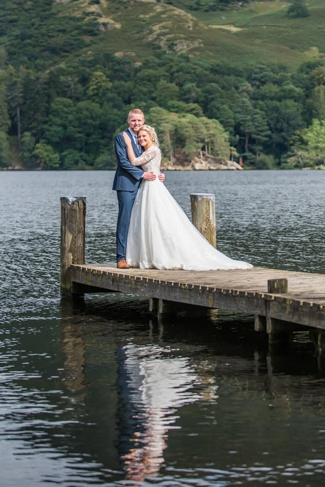 reflections in the lake, Inn on the Lake Weddings, Lake District