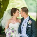 Bride and groom at Wortley Hall in Sheffield