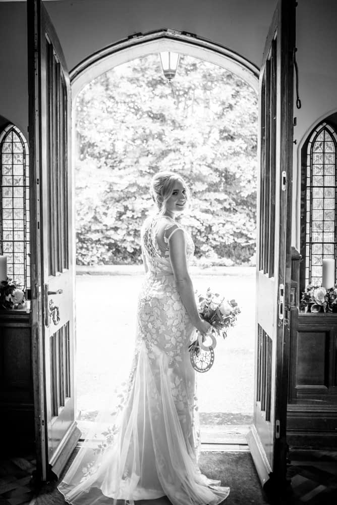Alex in her dress,  wedding photographers Carlisle register office elopement wedding Lake District