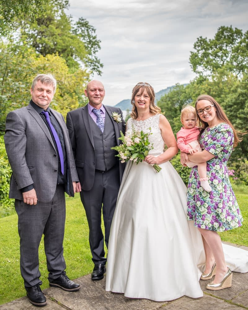 Family photograph, Merewood Country Hotel Hotel weddings, Lake District