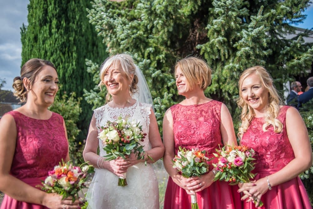 Caroline and her bridesmaids,  Hotel Van Dyk wedding photography Chesterfield