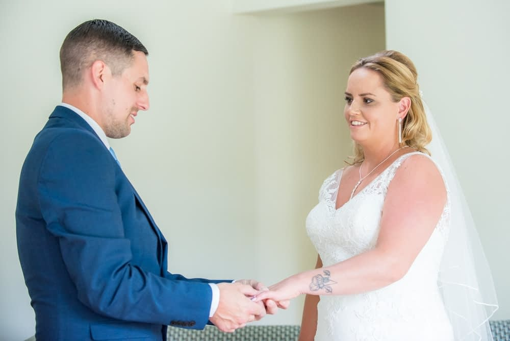 Intimate moments during ceremony, Windermere wedding photographers