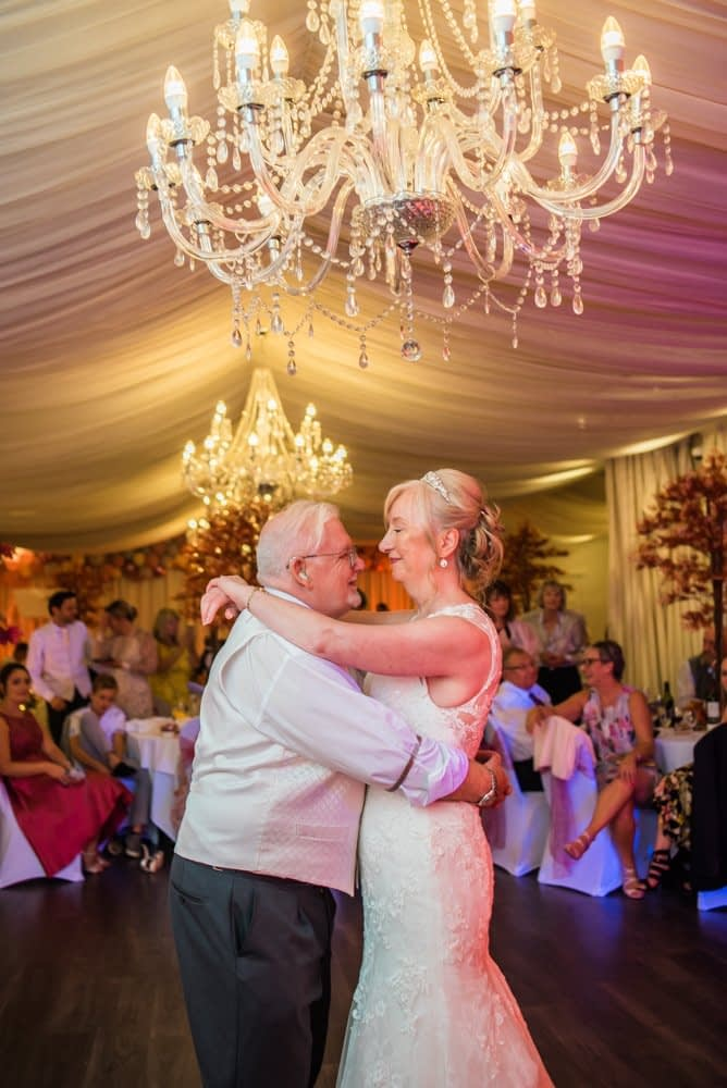 Dancing together,  Hotel Van Dyk wedding photography Chesterfield