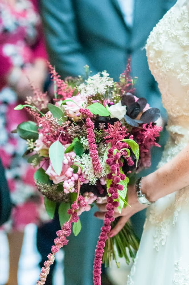 Janet's bouquet from Campbells Flowers, Sheffield town hall weddings
